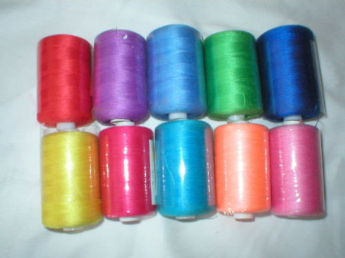 10,000m Polyester Sewing Machine Overlock Thread Bright